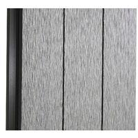 Brise-vue en WPC Sarthe, clôture brise-vent, poteaux aluminium ~ élément de base bas, 1,90m gris