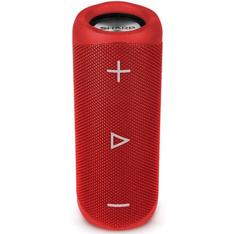 Sharp GX-BT280(RD) Red 20W Splashproof Rechargeable Portable Bluetooth Speaker