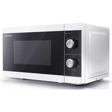 Sharp YC-MS01U-W White 20 Litre 800W Microwave With Defrost Settings