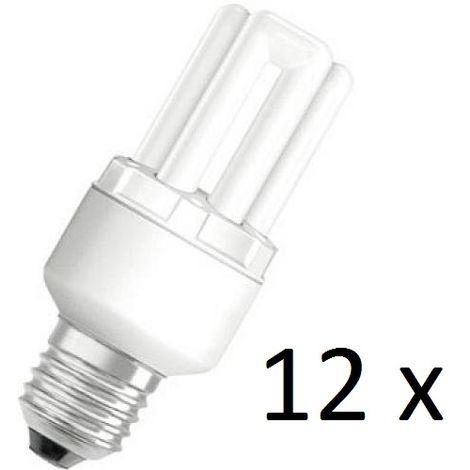 12 x Osram Dulux Star Superstar 8W/825 220-240V E27 Stick Lamp Light Bulb