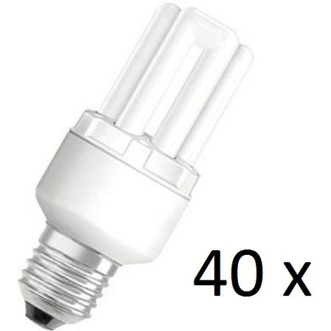 40 x Osram Dulux Star Superstar 8W/825 220-240V E27 Stick Lamp Light Bulb