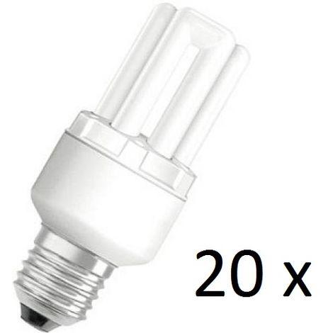 20 x Osram Dulux Star Superstar 8W/825 220-240V E27 Stick Lamp Light Bulb