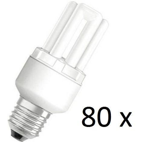 80 x Osram Dulux Star Superstar 8W/825 220-240V E27 Stick Lamp Light Bulb
