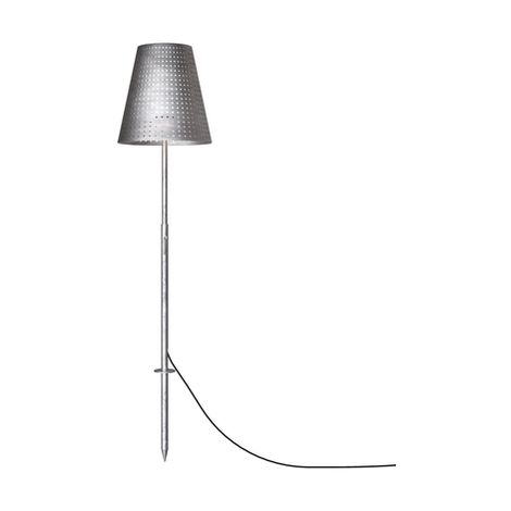Lampadaire fin Lampe Grop LED IP54 H200 cm Anthracite