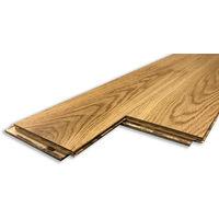 Rochelle - Parquet chêne Contrecollé chêne brossé huilé naturel rustic 14/3 x 127 x 300 à 1085mm (colis = 0,827m2)