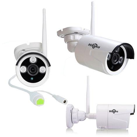 Kit Hiseeu 1080P CCTV inalámbrico 8CH NVR Exterior IR Visión nocturna IP WiFi Cámara Vigilancia de seguridad