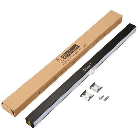 Elfeland 20 LED Luces de armario debajo del gabinete Luces Sensor de movimiento Armario del armario