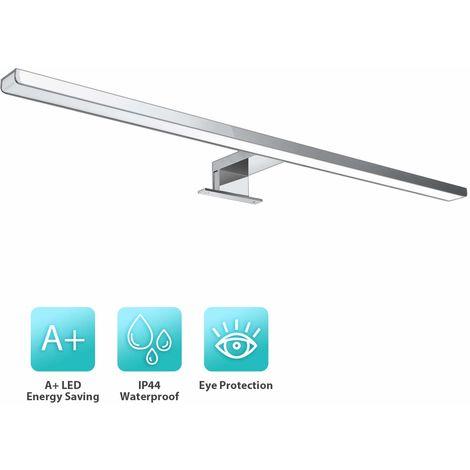 Lámpara de Espejo de Baño, Luz Frontal 10W 800LM Aplique Interior de Pared 60 cm Blanco Natural
