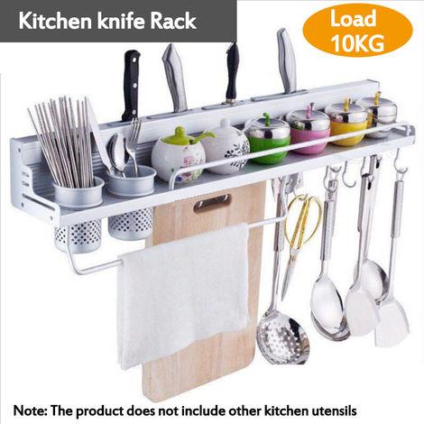 Free Punch Space Aluminio Cuchillos Estante Cocina Estante Doble taza 40CM