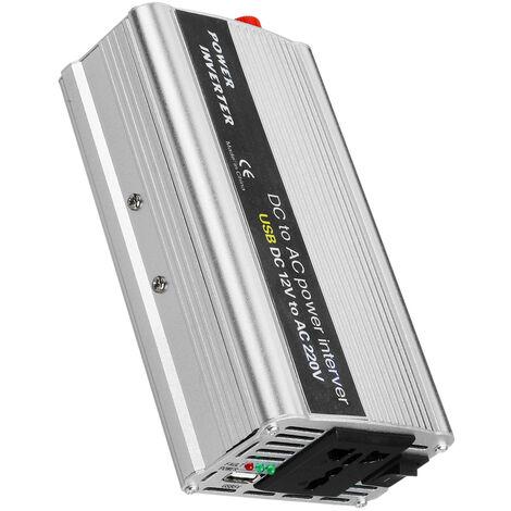 Inversor Portátil de Corriente de 12V a 220V Convertidor de Onda Sinusoidal Modificada para Automóvil, Auto
