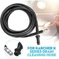 Manguera de limpieza de drenaje de alcantarilla para lavadora a presión 10M con boquilla de chorro para la serie Karcher K