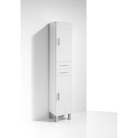 Columna de Baño CLAUDIA 30 cm, 2 puertas, color blanco