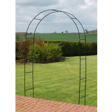 """2.4m (7ft 10"""") Coated Steel Metal Garden Rose Arch / Trellis"""