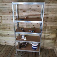 Garage Shelving 90cm Wide & 180cm High Heavy Duty 5 Tier Multipurpose Metal Racking Unit / Warehouse Shelving Storage