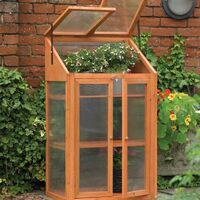 Wooden Mini Greenhouse With Polycarbonate Glazing. H120 x W69 x D51cm