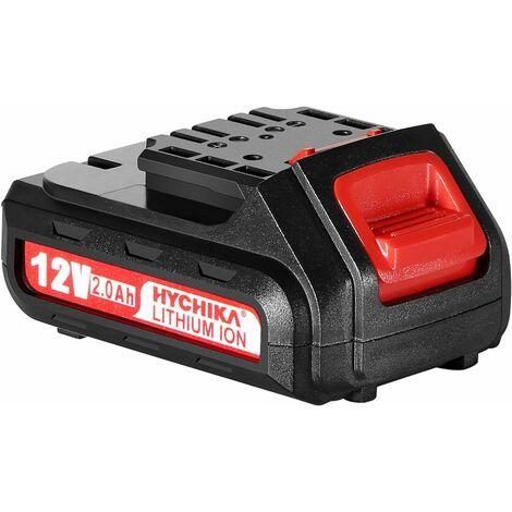 HYCHIKA Destornillador Eléctrico Batería 12V Recargable de Ion de Litio, Batería de Repuesto de 2.0 Ah, Para Todas las Taladro Atornillador 12V de HYCHIKA