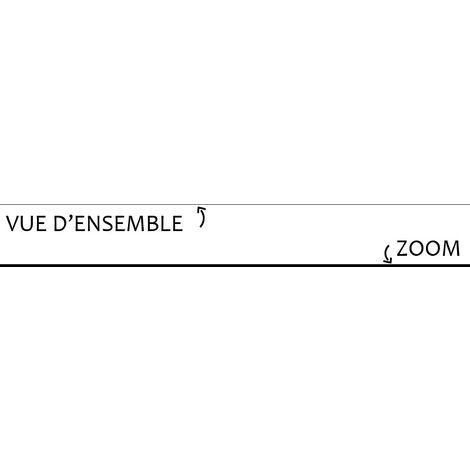 Noire   Lot de 10 Plinthes PVC Noires - L100xH8cm