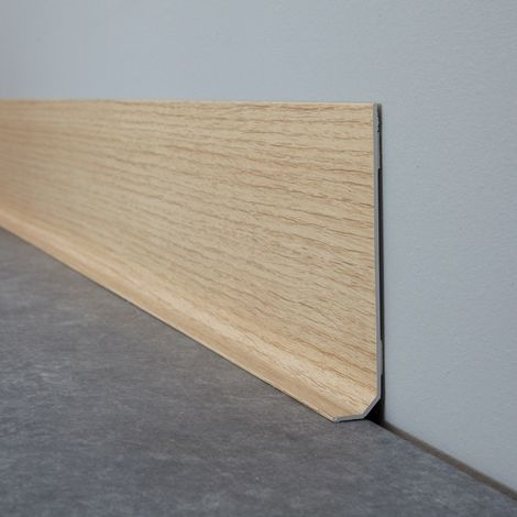 Chêne Clair | Lot de 10 Plinthes PVC Chêne Clair - L100xH8cm
