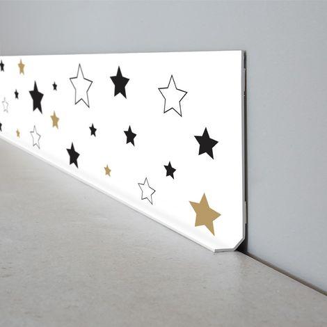 Lucky Star   Lot de 10 Plinthes PVC Lucky Star - L100xH8cm