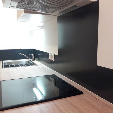 Ardoise Ral 7016 | Crédence cuisine en aluminium Ardoise ral 7016 - Lot de 2 bandeaux L100xH20cm