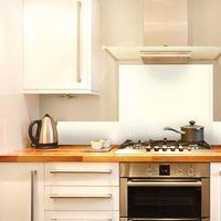 Total White   Crédence cuisine en aluminium blanc - Lot de 2 bandeaux L100xH20cm