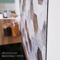 Mix & Match   Crédence cuisine en aluminium Mix and Match - Lot de 2 bandeaux L90xH20cm