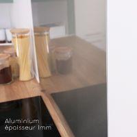 Alu Brossé   Crédence cuisine en alu brossé - Lot de 2 bandeaux L100xH20cm