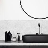 Art Déco Béton usé | Crédence salle-de-bain en PVC Art Déco Béton usé - Lot de 2 bandeaux L70xH30cm