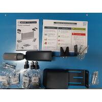 Portail coulissant YEL Gris 7016 - L356 cm X H166 cm en aluminium motorisé Somfy AUTOUR DU PORTAIL