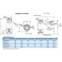 Pompe FLYGT DXVM 50-7 de relevage DELINOX - 24 m3/h - 7,5 m - Rp 2'' - Mono 230V - 50Hz - 0,75 kW - auto