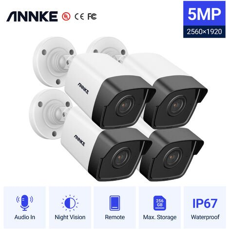 ANNKE Super HD Extra PoE IPE Security Camera for ANNKE 5MP Works with ANNKE 8MP PoE NVR IP67 Weatherproof Security Camera with EXIR LED