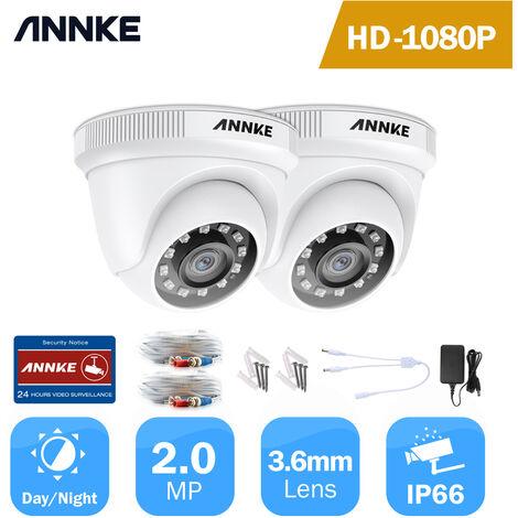 ANNKE 1080P IP67 Weatherproof Security Camera for Outdoor Indoor CCTV Surveillance Works - 2 Cameras