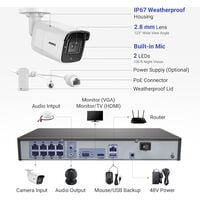 ANNKE 8CH 4K Ultra HD PoE Network Video Security System 8CH 4K H.265+ Surveillance NVR with 8pcs 8MP HD Weatherproof Cameras – NO Hard Drive