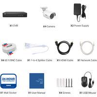 ANNKE 8-Channel H.265 5MP 5-in-1 CCTV Camera System + 4 HD 1080x Starlight DE-Noise HD Weatherproof Cameras – 0TB Hard Drive