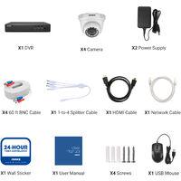 ANNKE 8-Channel H.265 5MP 5-in-1 CCTV Camera System + 4 HD 1080x Starlight DE-Noise HD Weatherproof Dome Cameras – 0TB Hard Drive
