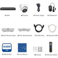 ANNKE 16CH POE CCTV Security Systems Network Super HD PoE 5MP 8PCS Cameras ヨ 0TB Hard Drive