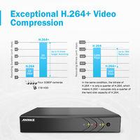 ANNKE 8CH 1080P LiteCCTV System 1080P DVR Kit 4pcs 2.0MP Outdoor Security Cameras System IR night Video Surveillance Kit Black ヨ 2T hard drive