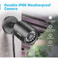 ANNKE 8CH 1080P LiteCCTV System 1080P DVR Kit 8pcs 2.0MP Outdoor Security Cameras System IR night Video Surveillance Kit Black ヨ No hard drive