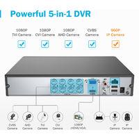 ANNKE 8CH 1080P LiteCCTV System 1080P DVR Kit 4pcs 2.0MP Outdoor Security Cameras System IR night Video Surveillance Kit White Color ヨ No hard drive