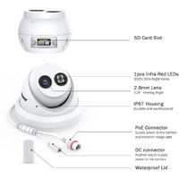 ANNKE 1PC Ultra HD 8MP POE Camera 4K Outdoor Indoor Weatherproof Security Network Dome EXIR Night Vision Email Alert CCTV Camera