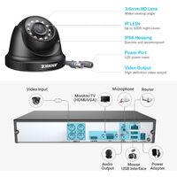 ANNKE 8CH 1080P Lite CCTV System 4pcs 2.0MP Outdoor Security Dome Cameras IR night Video Surveillance CCTV Kit - No hard drive