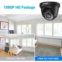 ANNKE 2PCS 1080P Surveillance Cameras 2MP IP66 Waterproof Indoor Outdoor CCTV Camera Kit 30m Night Vision with Smart IR Cam Black
