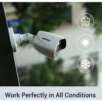 ANNKE 4K Ultra HD 8CH DVR Security Camera System with 8PCS Full Color Night Vision Home Outdoor Indoor CCTV Surveillance Kit with 4T Hard Drive