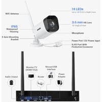 ANNKE 2MP 1080P CCTV System 8CH HD Wireless NVR Kit 6pcs Indoor Outdoor IR Night Vision IP Wifi Camera Security System CCTV Kit with 0T Hard Drive