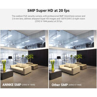 ANNKE 5MP H.265+ Super HD PoE Network Video Security System 8pcs Waterproof Outdoor POE IP Cameras Plug & Play PoE Camera Kit with 0T Hard Drive