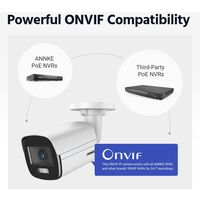 ANNKE 16CH 8MP Ultra HD PoE Network Video Security System H.265 Surveillance NVR 12x4MP HD IP67 Full Color POE Cameras NVR Kit with 2T Hard Drive
