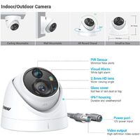 ANNKE CCTV Camera System 8 Channel Ultra HD 4K H.265+ DVR and 8PCS 5MP HD Weatherproof Dome Cameras Kit – 0TB Hard Drive