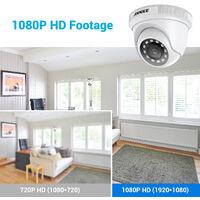 ANNKE 1080P IP67 Weatherproof Security Camera for Outdoor Indoor CCTV Surveillance Works – 4 Cameras