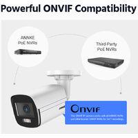 ANNKE True Full Color Night Vision H.265+ 4MP Super HD PoE Bullet IP Security Camera for Outdoor Indoor CCTV Surveillance – 1 Camera