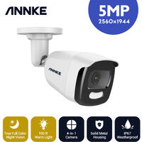 ANNKE 5MP Super HD True Full Color Night Vision Security Camera for Outdoor Indoor CCTV Surveillance Works with All DVR Systems – 1 Camera